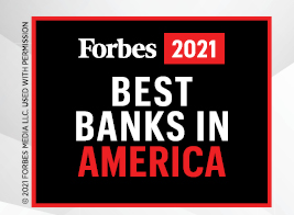 Forbes Best Bank in America 2021